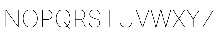 LinikSans-Thin Font UPPERCASE