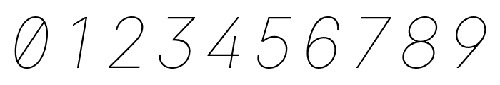 LinikSans-ThinItalic Font OTHER CHARS