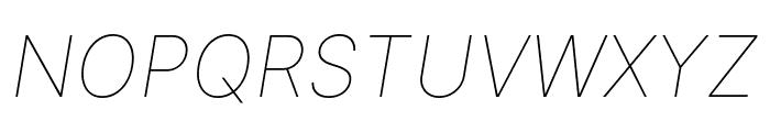 LinikSans-ThinItalic Font UPPERCASE