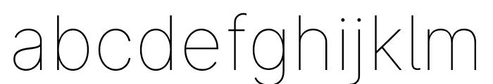 LinikSans-Thin Font LOWERCASE