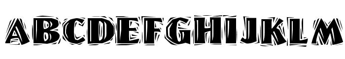 Linolschrift Heavy Font UPPERCASE