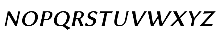 Linux Biolinum Capitals Italic Font LOWERCASE