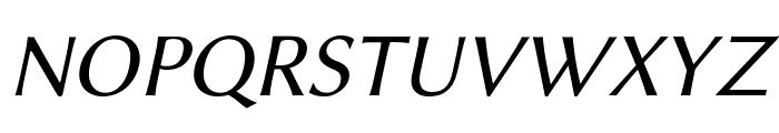 Linux Biolinum Italic Font UPPERCASE