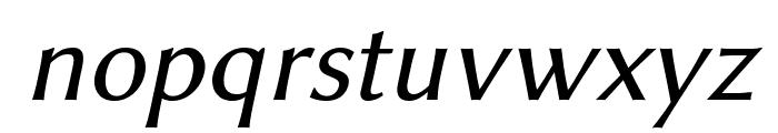 Linux Biolinum Italic Font LOWERCASE