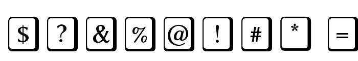 Linux Biolinum O Keyboard Font OTHER CHARS
