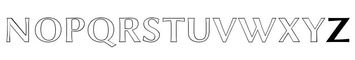 Linux Biolinum Outline Bold Font UPPERCASE
