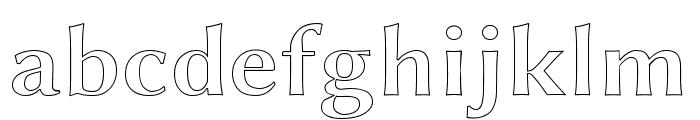 Linux Biolinum Outline Bold Font LOWERCASE