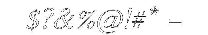 Linux Biolinum Outline Italic Font OTHER CHARS