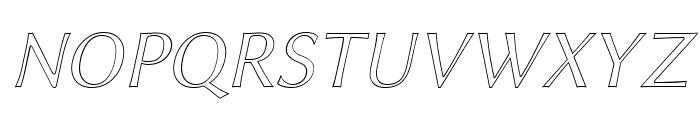 Linux Biolinum Outline Italic Font UPPERCASE