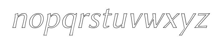 Linux Biolinum Outline Italic Font LOWERCASE