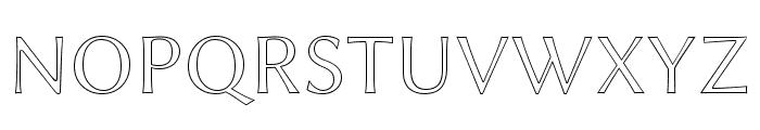 Linux Biolinum Outline Font UPPERCASE