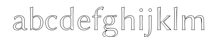 Linux Biolinum Outline Font LOWERCASE