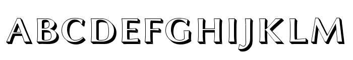 Linux Biolinum Shadow Bold Font UPPERCASE
