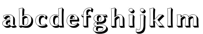 Linux Biolinum Shadow Bold Font LOWERCASE