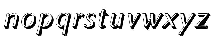Linux Biolinum Shadow Italic Font LOWERCASE