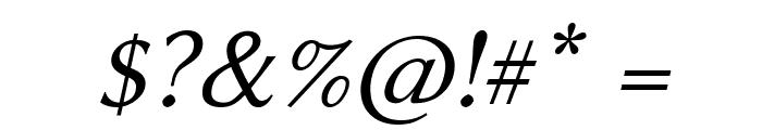 Linux Biolinum Slanted Font OTHER CHARS