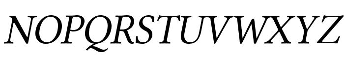 Linux Libertine Capitals Italic Font UPPERCASE