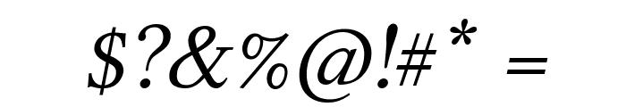 Linux Libertine Italic Font OTHER CHARS