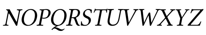 Linux Libertine Italic Font UPPERCASE