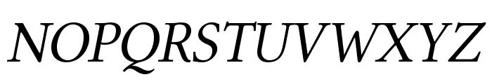 Linux Libertine O Italic Font UPPERCASE