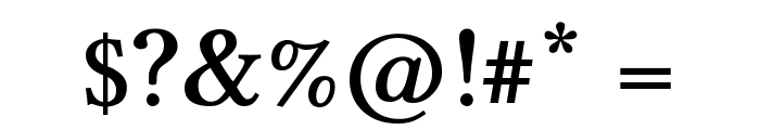 Linux Libertine Semibold Font OTHER CHARS