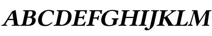 Linux Libertine Slanted Bold Font UPPERCASE
