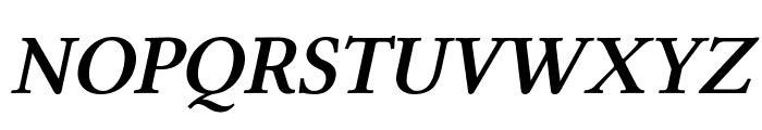 Linux Libertine Slanted Semibold Font UPPERCASE