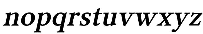 Linux Libertine Slanted Semibold Font LOWERCASE