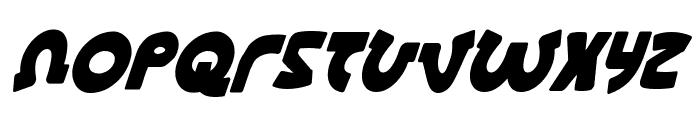 Lionel Condensed Italic Font UPPERCASE