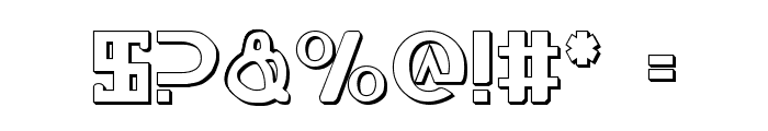 Lionheart Shadow Font OTHER CHARS