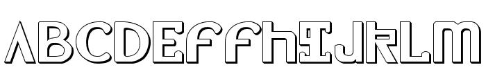 Lionheart Shadow Font UPPERCASE