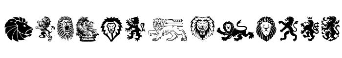 Lions Font LOWERCASE