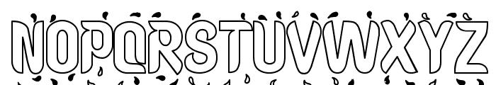 Liquid Hollow Font UPPERCASE