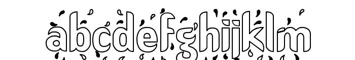 Liquid Hollow Font LOWERCASE