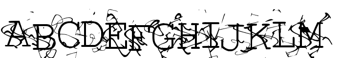 Liquid Newspaper Font UPPERCASE