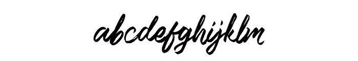 Lismonia Brush Font Demo Regular Font LOWERCASE