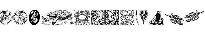 Listemagerens Ny Dingbats Font LOWERCASE