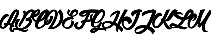 Litchis on Velvet_PersonalUseOnly Font UPPERCASE