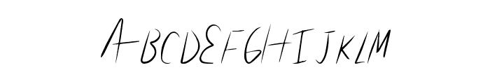 LiteHand Font UPPERCASE