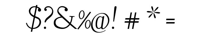 LitosScript-Italic Font OTHER CHARS