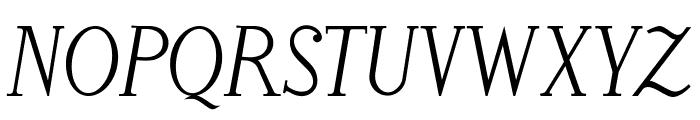 LitosScript-Italic Font UPPERCASE
