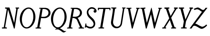 LitosScript-SemiBoldItalic Font UPPERCASE