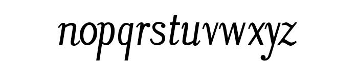 LitosScript-SemiBoldItalic Font LOWERCASE