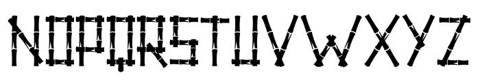 Little Bamboo Font UPPERCASE