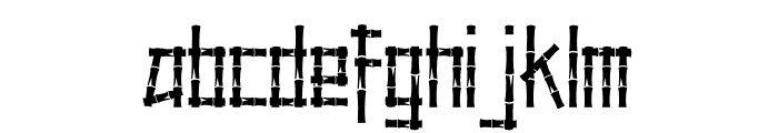 Little Bamboo Font LOWERCASE