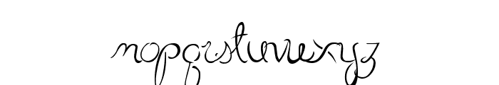Little Bliss Font LOWERCASE