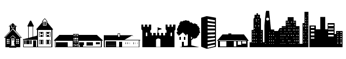 Little City 2000 Font OTHER CHARS