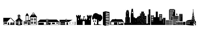 Little City 2000 Font UPPERCASE