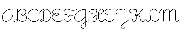 Little Days Font UPPERCASE