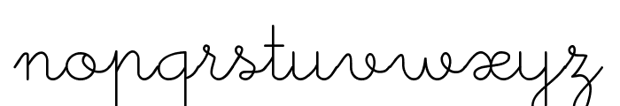 Little Days Font LOWERCASE